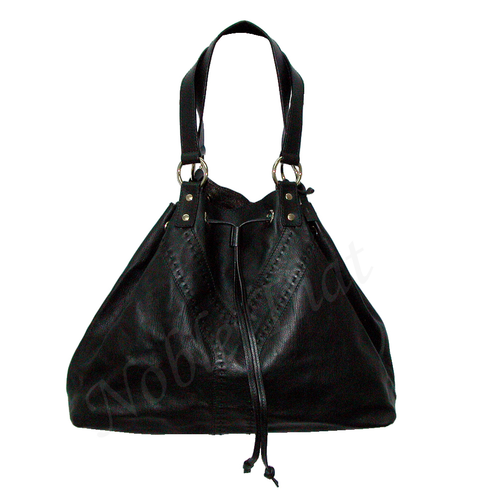 good selling big collection top-rated authentic YSL - YVES SAINT LAURENT - Black Leather Tote Bag